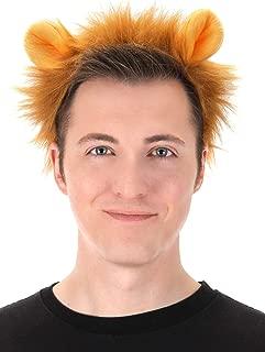 Lion Ears Plush Headband and Tail Kit Brown