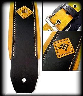 Tracolla in cuoio per Chitarra/Basso, incisione Personalizzata realizzabile in vari colori personalizzabile custom Leather...