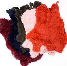 Assorted Bulk Craft Grade Rabbit Pelts (5 Pack Dyed Rabbits Prime)