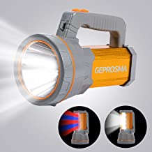 Super Bright 35W Handheld Searchlight USB Rechargeable Cree LED Spotlight Flashlight Large 4 Batteries 10000mah High Lumen...