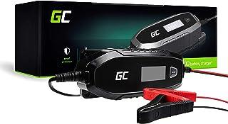 Green Cell Ladegerät (AGM, Gel, MF, SLA, VRLA) Automatische Kompensation Spannung 6V / 12V (4A) Ladegerät mit Batterietester für Auto Motorroller Motorrad LKW Automobil