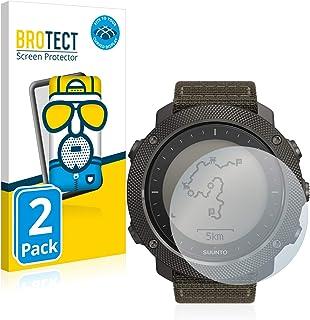 BROTECT Full-Cover Antireflecterende Screenprotector compatibel met Suunto Traverse Alpha (2 Stuks), 3D Curved, Anti-Glare...