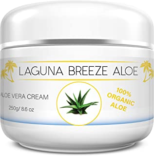 Laguna Breeze Natural Face and Body Cream - Unscented Moisturizer for Dry Skin - Lotion for Women and Men - Organic Aloe C...