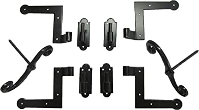 New York Style Shutter Hinge (4) Hardware Set Wood Mount with S/Dogs (2)