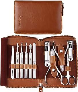 Juego de manicura, FAMILIFE Kit de manicura profesional Juego de cortaúñas Juego de herramientas de pedicura de acero inox...
