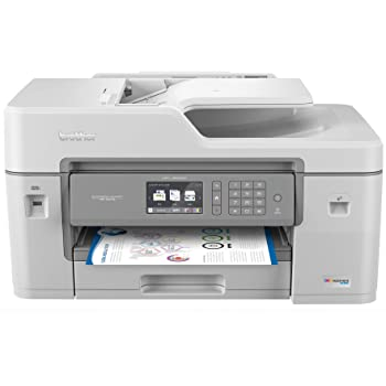 """Brother MFC-J6545DW INKvestmentTank Color Inkjet All-in-One Printer with Wireless, Duplex Printing, 11"""" x 17"""" Scan Glass and Upto 1-Year of Ink-in-Box, MFC-J6545dw, Amazon Dash Replenishment Ready"""