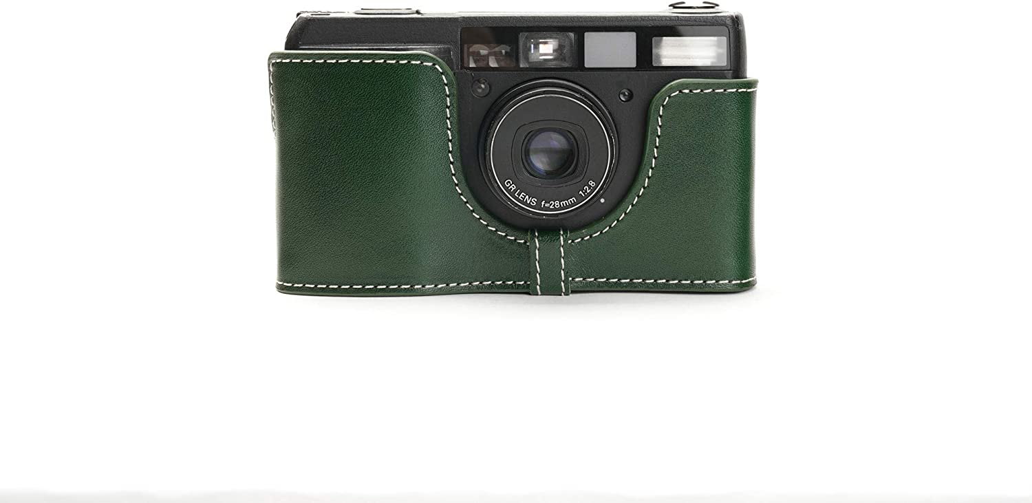 Ricoh GR1S GR1V Case Recommended BolinUS Handmade Real Genuine Half Max 51% OFF Leather