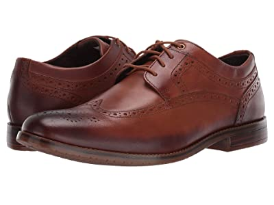 Rockport Style Purpose 3 Wing Tip (Cognac) Men