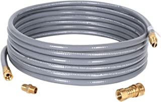 GGC 10 Feet 1/2 inch ID Natural Gas Grill Hose with Quick Connect Fittings 3/8 Female to 1/2 Male Adapter Outdoor NG/Propane Appliance - CSA Certified