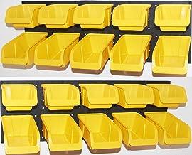 Organizador de ferramentas WallPeg – caixas amarelas de plástico Pegboard 20 ea. # AM 20Y