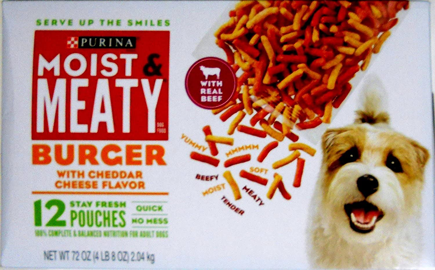 Purina Moist & Meaty Dog Food Burger With Cheddar Cheese Flavor  12 Ct