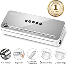 Bonsenkitchen Vacuum Sealer Machine for Food Saver Bags, Home Vacuume Sous Vide Sealing..