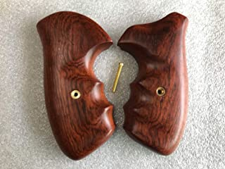 Feelsogood Hot!! Rossi, Small Frame Square Butt Revolver Grips - Smooth Hard Wood Thai Handmade and Ship from Thailand