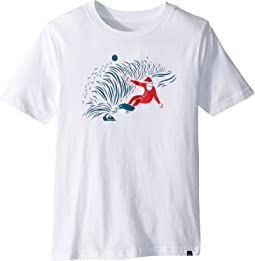 Snow Man Shred Tee (Big Kids)