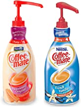 Coffee Mate Liquid Concentrate 1.5 Liter Pump Bottle - 2Variety Pack Original Sweetened Cream & French Vanilla