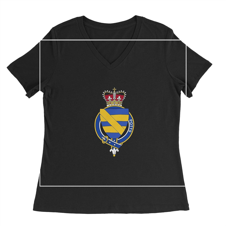 HARD EDGE DESIGN Women's English Garter Family Potts T-Shirt