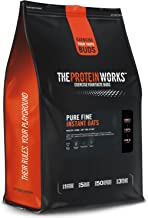 THE PROTEIN WORKS Pure Fine Instant Oats 100 Pure Natural Scottish Oats Slow-Release Energy Ultra Fine Unflavoured 4 kg Estimated Price : £ 9,99