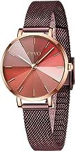 CIVO Relojes Mujer Oro Rose Reloj de Pulsera de Acero Inoxidable Impermeable para Damas con Gradiente Diseño Relojes para Mujeres Damas Niñas de Analógico Elegante Vestidos Negocios