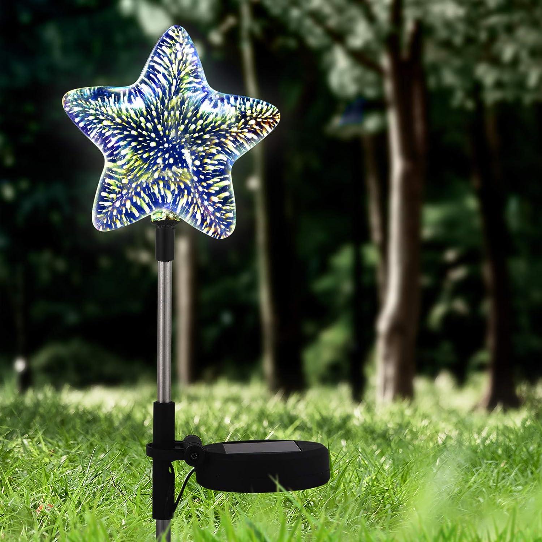 SODELIC Solar Garden Star Max 58% OFF Lights 3D Led Ball Glass Decora Ranking TOP7 Globe