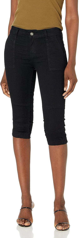 CG JEANS Women's Ute Denim Capri Jogger Pants High Waisted