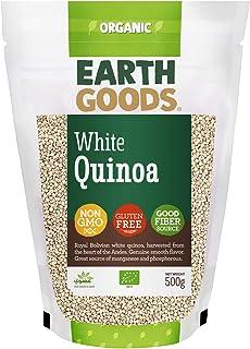 Earth Goods Organic White Quinoa, NON-GMO, Gluten-Free, Good Fiber Source 500g