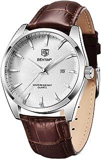 BENYAR - Stylish Wrist Watch for Men, Genuine Leather...