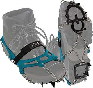 Fort Prot/ègent Chaussures poetryer Crampons Universelles 5 Dents Acier Glace Grips Antid/érapant Neige Glace Traction Crampons Chaussure Cha/înes Coffre