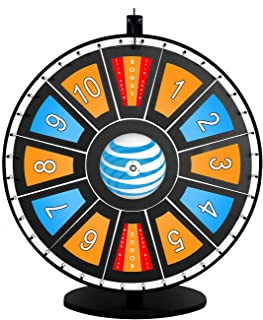 30in Insert Your Own Graphics Dry Erase Prize Wheel with Black Magnetic Frames and Table Stand