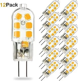 TaoTens G4 LED Bulb, Bi-Pin Base, 20W Halogen Bulb Equivalent, AC/DC 12 Volt, Warm White 3000K(12 Pack)