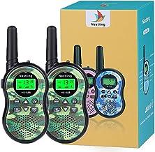 Nestling Walkie Talkie Niños, Camuflaje al Aire Libre 8 Canales LCD Pantalla Linterna Incorporado VOX, Rango de 3KM, 10 Tonos de Llamada Walkie Talkie Niñas Juguete Regalo (2pcs Verde)