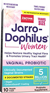 Jarrow Formulas Jarro-Dophilus Women Travel Size, Supports Women's Health, 5 Billion Cells Per Capsule, 10 Count