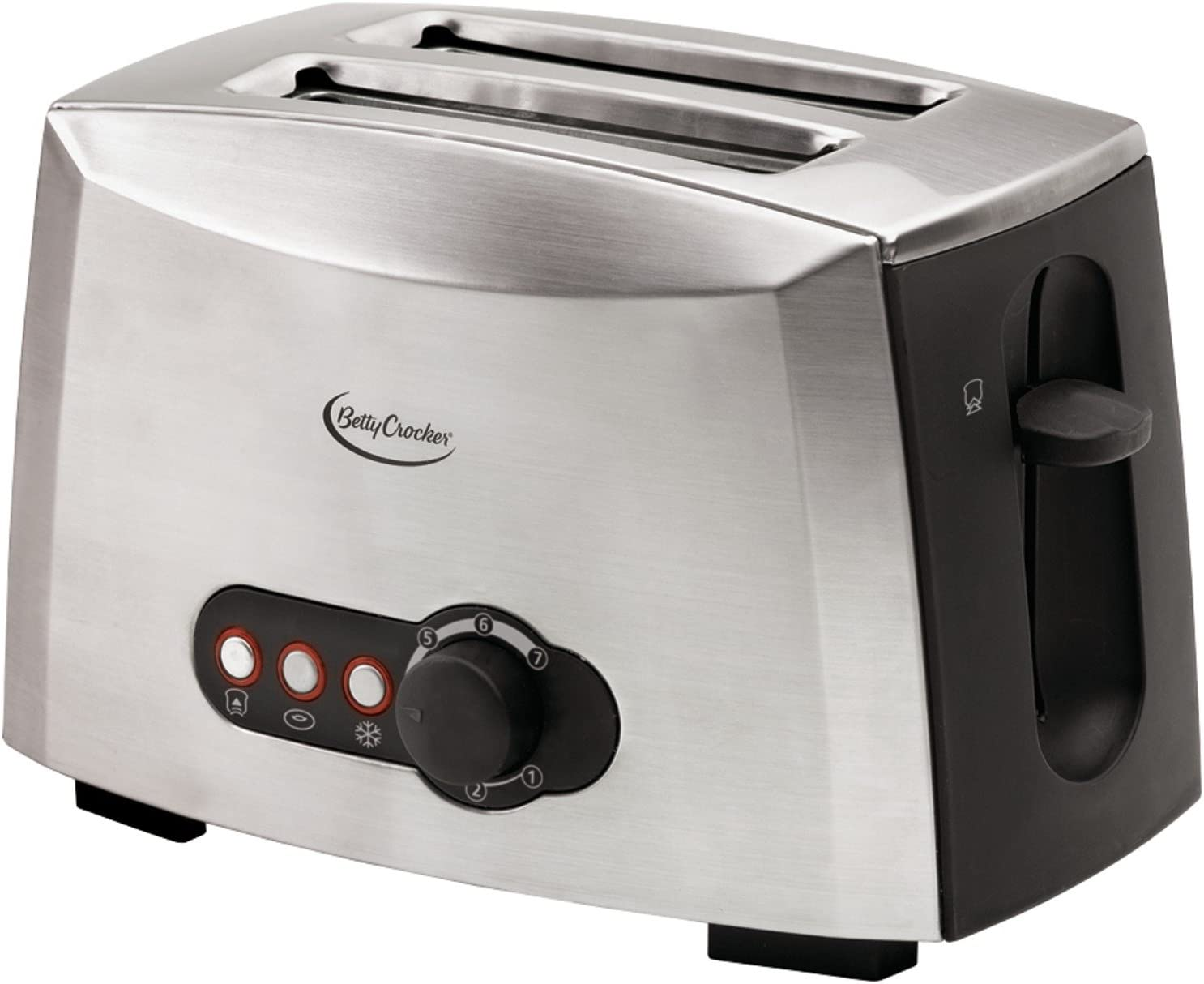 Betty Crocker 2-Slice Multifunctional Brushed Stainless Toaster 2021 Very popular!
