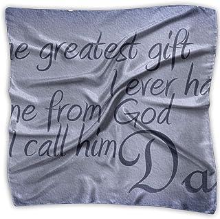 Bikofhd I Call Him Dad Print 100% Silk, Silk Scarf Square, Small Handkerchief, Bandana Classic Square Scarf Small