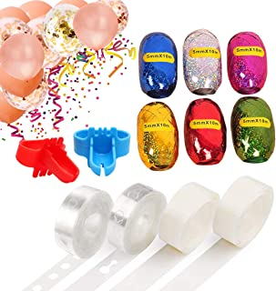 Balloon Arch Garland Kit DIY Decorating Strip - 32 Ft Balloon Tape Strip, 2 Pcs Tying Tool,200 Dot Glue, 6 pcs 32ft Ribbon String For Birthday Wedding Baby Shower Party Decorations.