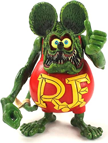 Ratfink Crazy Mouse Model Joint Removable PVC Action Figure Rat Fink Collection Model Toy Doll Christmas Birthday Gift 12cm