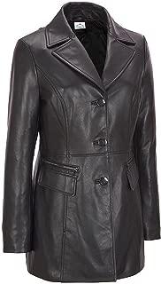VearFit Fliminto Exclusive Designer Black Faux Leather Coat Blazar for Women Missy Regular