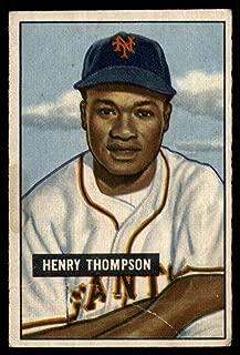 Baseball MLB 1951 Bowman #89 Hank Thompson VG NY Giants