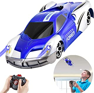 Rc Car Wall Climbing Argohome RC Remote Control Cars Dual Mode 360°Rotating Stunt Rechargeable High Speed Vehicle with LED Lights High Speed Mini Toy Car for Boys Kids Adults Gifts - Blue