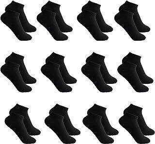 Toocool, Stock 12 pares de calcetines tobilleros para hombre y mujer, algodón ZA-115