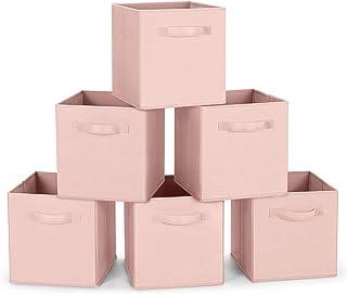 Amazon Brand – Umi Cube de Rangement Tissu, Panier de Rangement, Caisse de Rangement, casier Rangement, Rangement Vetement...
