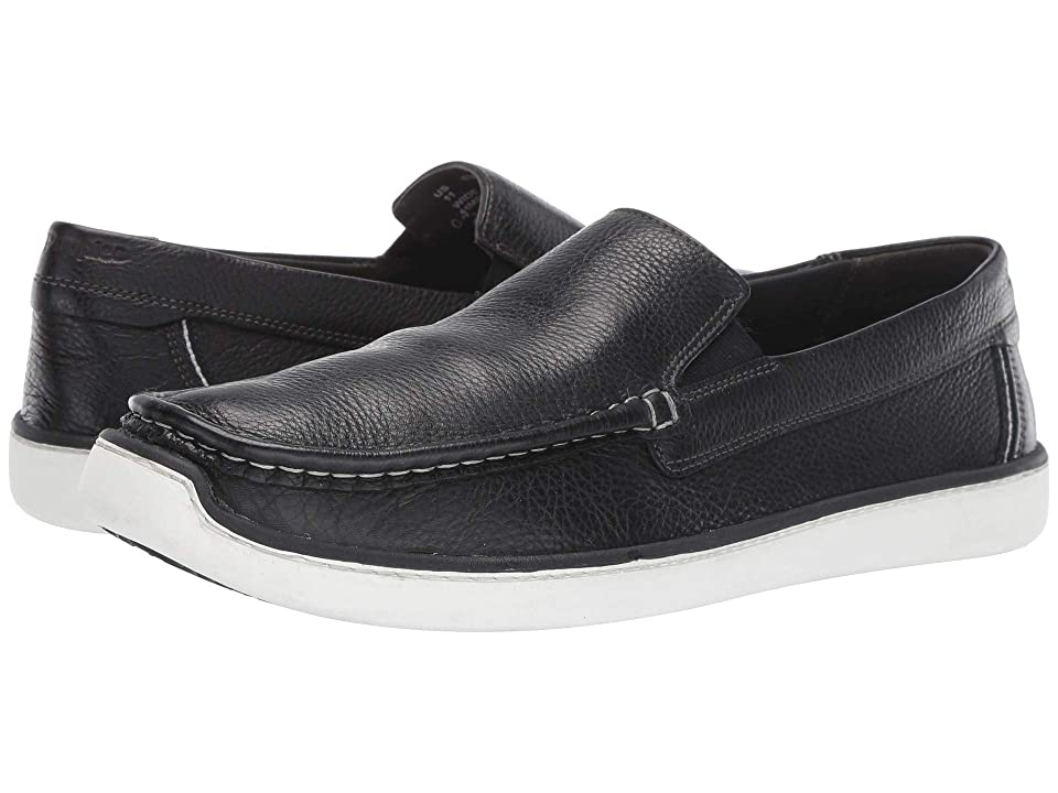 Hush Puppies Toby Venetian (Black Leather) Men