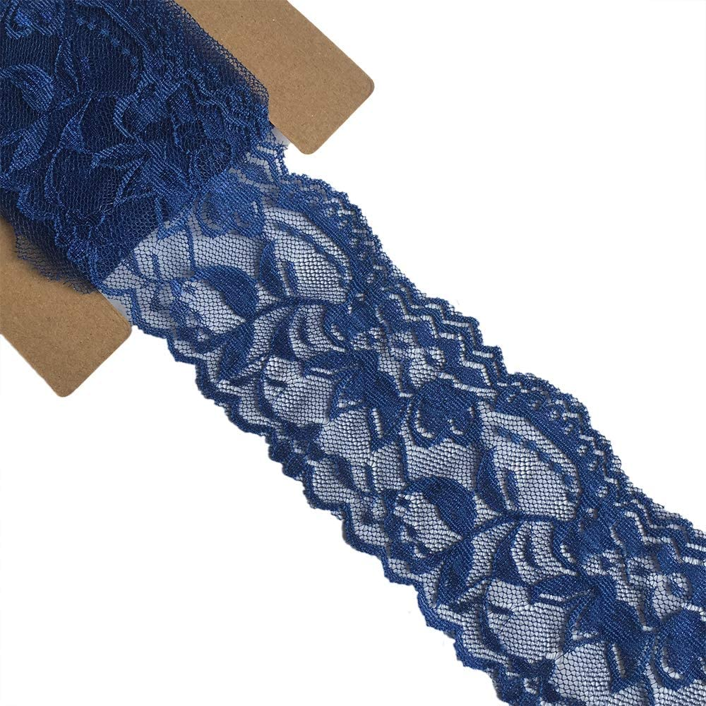 favorite Lace Realm 2″×5 Yards Max 86% OFF Pattern Floral Stretch Ribbon