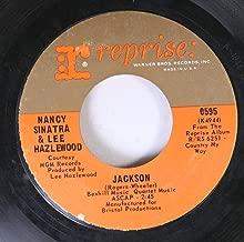 NANCY SINATRA & LEE HAZELWOOD 45 RPM JACKSON / YOU ONLY LIVE TWICE