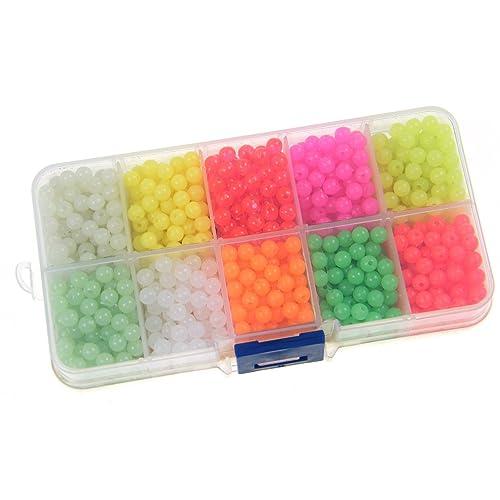 Croch Glow Fishing Beads Plastic Oval Shaped