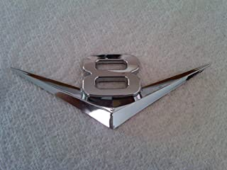 TRUE LINE Automotive V6/V8 Chrome Emblem Badge Trim (V8)
