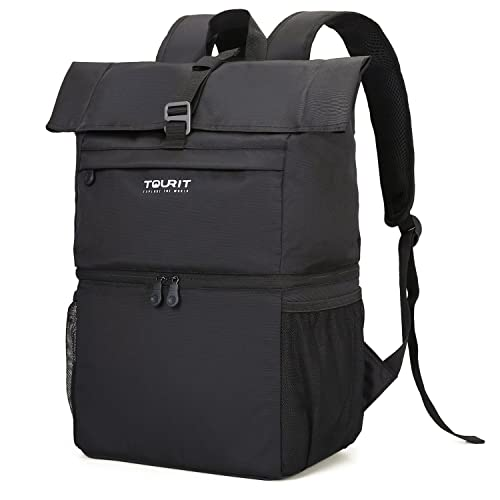 88f8de4ea5de TOURIT Cooler Backpack Large Insulated Lunch Backpack Lightweight Backpack  with Cooler Compartment for Men Women to