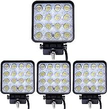 Faros de LED Tipo Barra Cuatri Contra Agua Golpes y Temperaturas Extremas Leetop 4X 18W Focos de Trabajo LED