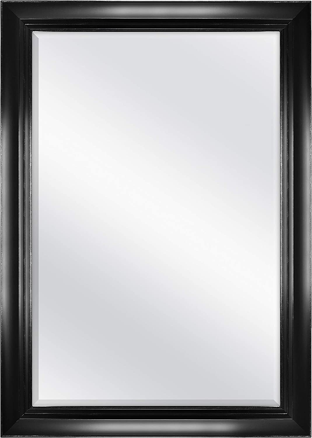 MCS 23346 Pinnacle Wall Mirror Black