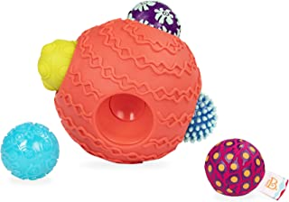 B. toys by Battat Ballyhoo Baby Ball – 1 Big Textured Ball with 5 Small Sensory Balls – Developmental Toys for Babies 6 Mo...