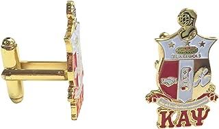 Kappa Alpha Psi G441CL Shield/Crest Gold Color Cufflinks Fraternity Divine Nine Greek